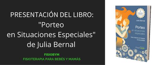 """Presentación del libro """"Porteo en situaciones especiales: Una crianza en brazos sí es posible"""""""