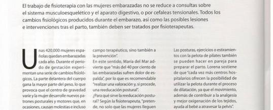 Fisioterapia en el Embarazo. Entrevista del Colegio Pr. Fisioterapeutas Madrid