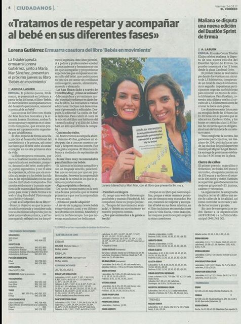 Entrevista el Correo Bebés en Movimiento