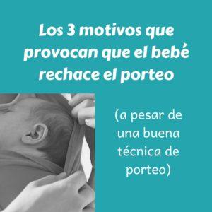 Los 3 motivos que provocan que el bebé rechace el porteo